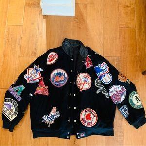 Vintage MLB Leather Patch Varsity Jacket
